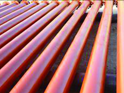 Ceramic-lined steel pipe