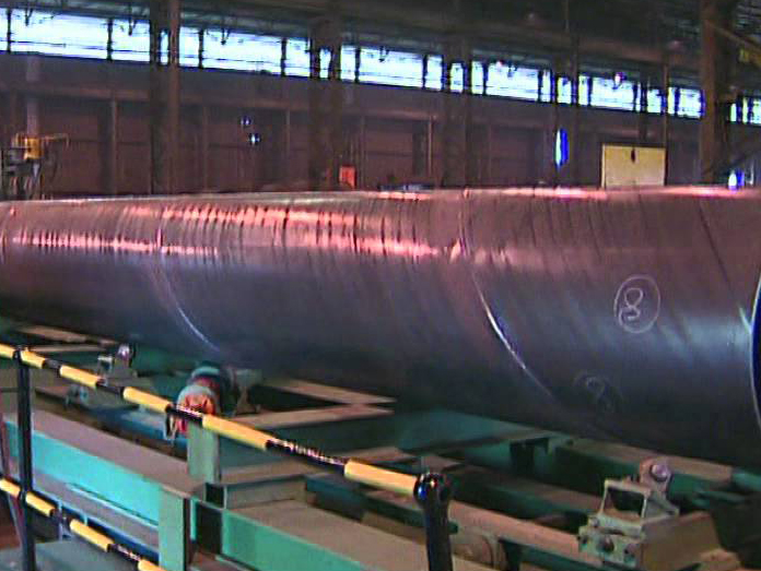 On-line testing of welded pipe