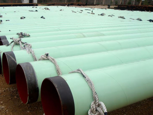 Coal tar epoxy pipe storage methods
