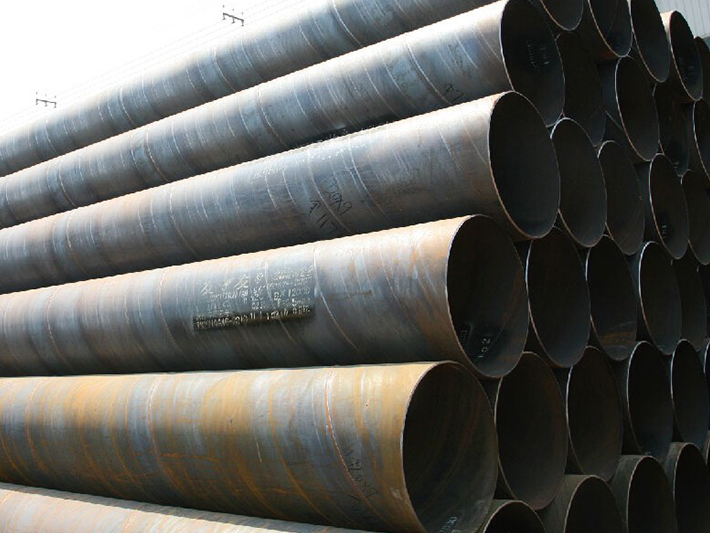 Hydrostatic test of spiral welded pipe