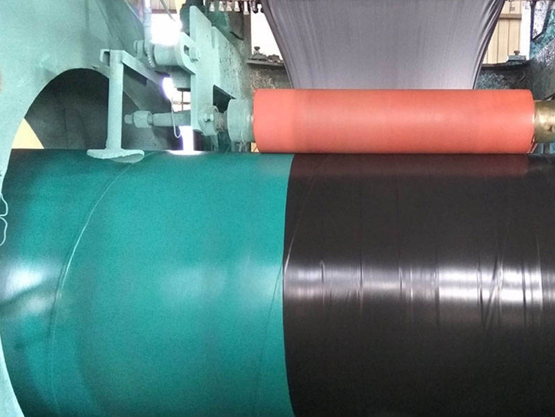 Measures to avoid warping of 3PE anti-corrosion layer pipe ends